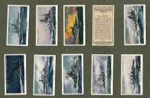 Collectable  Cigarette cards set  Modern naval Craft 1939